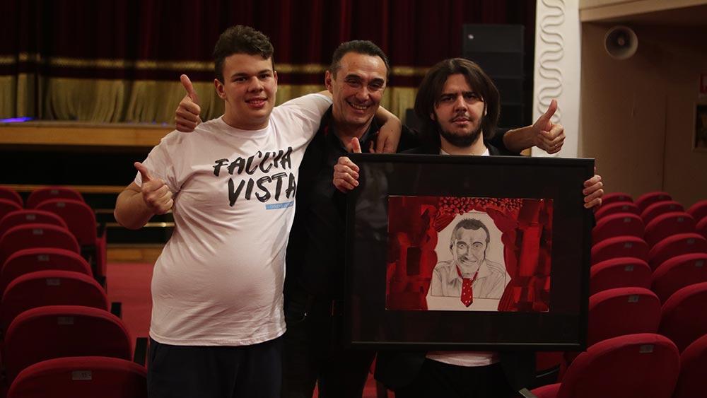 Giuseppe Giacobazzi incontra gli artisti di FACCIAVISTA